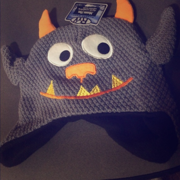 c5f889f70d653 Knit Monster winter hat with ears