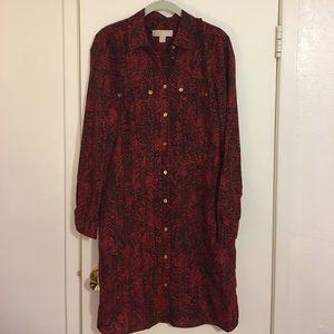 MICHAEL Michael Kors Dresses & Skirts - Michael Kors red shirt dress