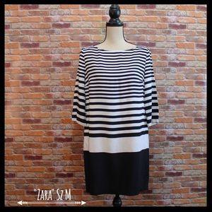 Zara Dresses & Skirts - Zara Striped Tunic Shift Dress