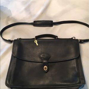 Used, Vintage Jack George's black leather briefcase. for sale