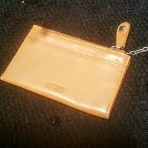 Coach  Handbags - New!! COACH Tan Leather Wristlet