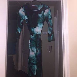 Muse sheer floral dress