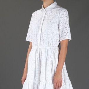 MSGM Dresses & Skirts - MSGM White Eyelet Shirt Dress