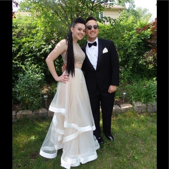 209f33c9e51c Terani Couture Dresses   Champagne Glamour Two Piece Dress   Poshmark