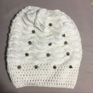 Studded spiked knitted beanie