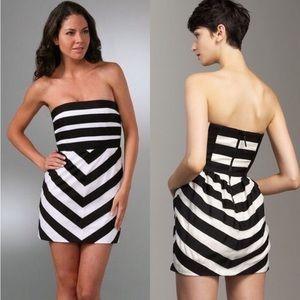 Alice + Olivia Dresses & Skirts - Alice + Olivia Ribbon Stripe Strapless Dress