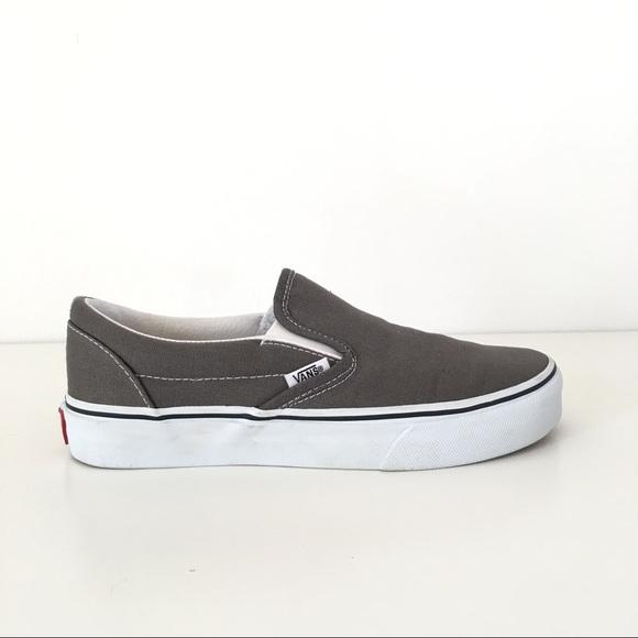 411ddf7744 Vans Slip On Shoes in Grey - Women s size 7