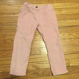 Petit Bateau pink girls corduroy pants - size 3