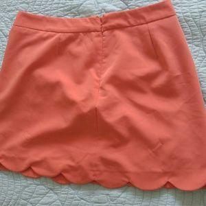 ASOS Dresses & Skirts - Coral scalloped skirt