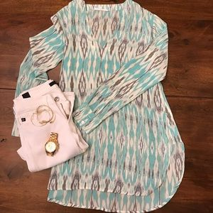 Vici Collection Ikat Tunic Top - S