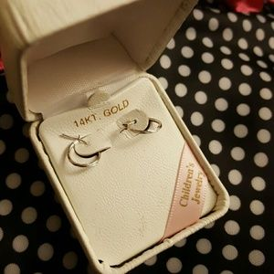Other - Children's white gold hoops