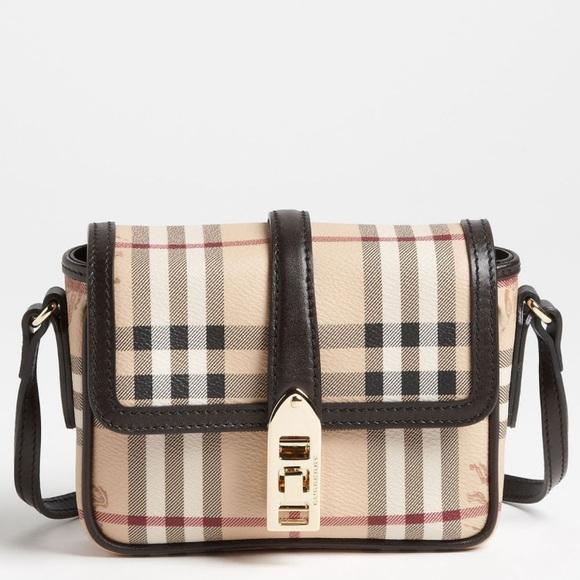 Burberry Handbags - Burberry haymarket check natural crossbody bag 22f2d9284b4ff
