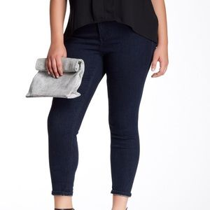 Melissa McCarthy Denim - Melissa McCarthy Dark Blue Ankle Skinnies, 14W