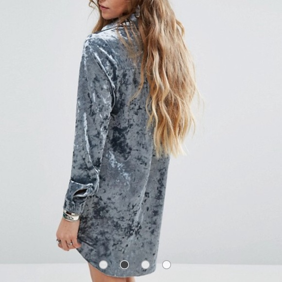 ASOS Dresses - NWT ASOS crushed velvet shift dress