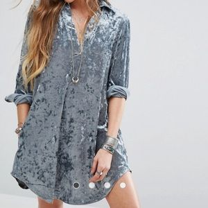 ASOS Dresses & Skirts - NWT ASOS crushed velvet shift dress