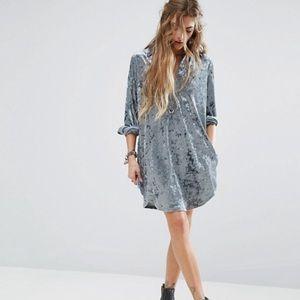 ASOS Dresses - NWT ASOS crushed velvet shift dress