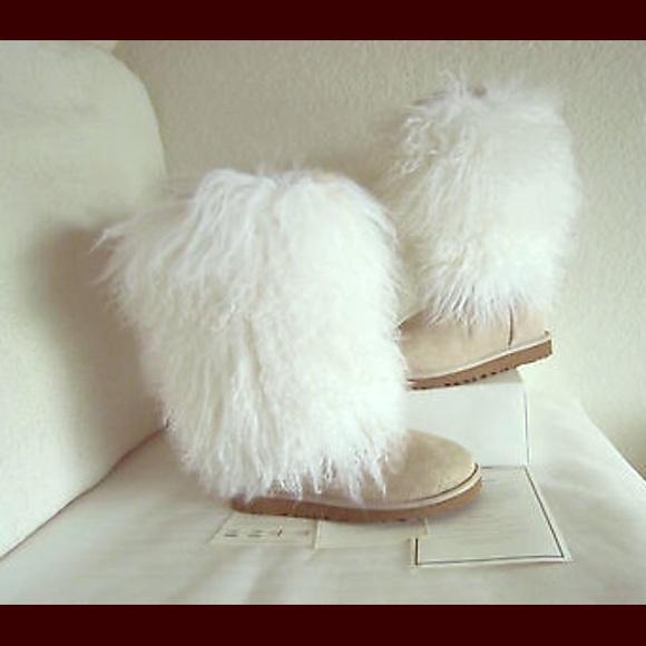 ugg shoes white sheepskin boots poshmark rh poshmark com