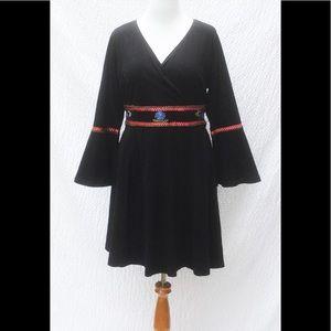 eshakti Dresses & Skirts - New Eshakti Black Boho Fit & Flare Dress 24W