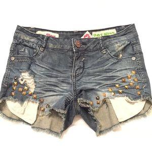 Distressed Jean Shorts | sz 3