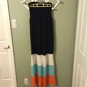 1X Strapless Maxi Dress