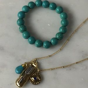 Jewelry - Charm Necklace and Bead Stretch Bracelet