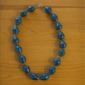 31 Bits Jewelry - Chunky Blue 31 Bits Necklace