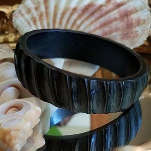 Jewelry - Carved Wood Look Bangle