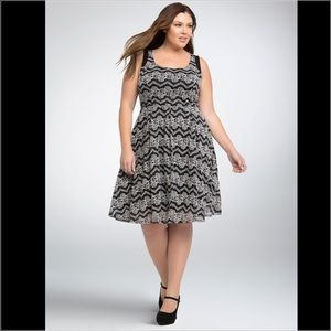 Torrid Lace Skater Contrast Dress (FIRM PRICE)