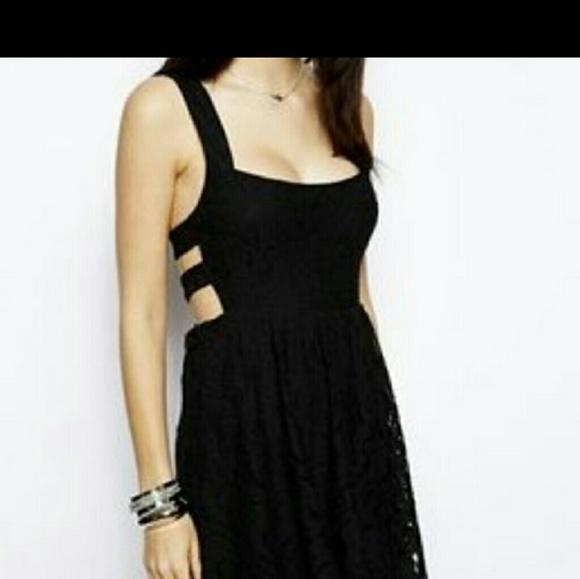 aeed5da7a5b Free People Dresses   Skirts - Free People black lace dress .... size