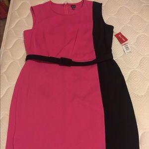Rafaella Dresses & Skirts - Rafaela pink/black color block dress NWT