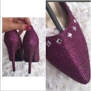 Yoki Shoes - New in box! Purple sparkly heels with rhinestones