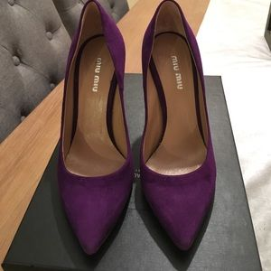 Miu Miu Shoes - Miu Miu purple pumps