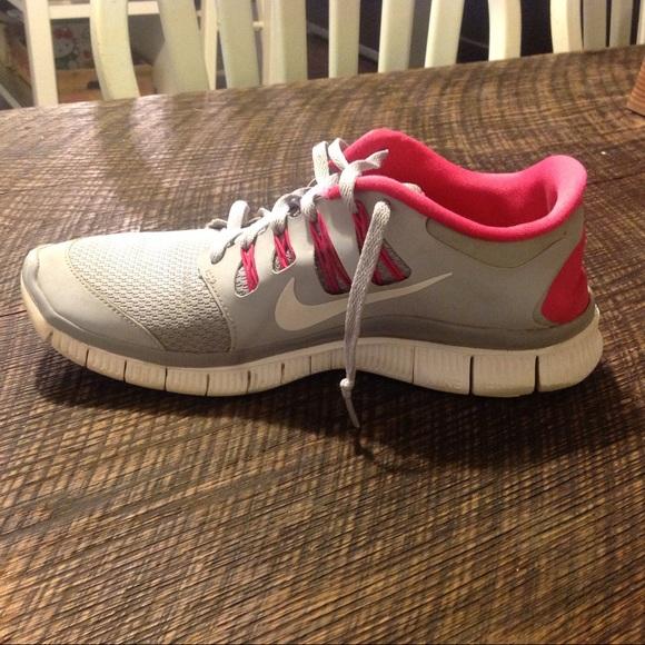 Nike Shoes - Nike Free 5.0+ Running Shoes Size 9 - Grey Pink 27c90ef5f3ef