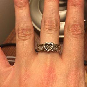Tiffany & Co. Jewelry - Tiffany & Co. Somerset Mesh Heart Ring