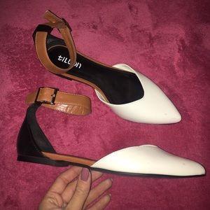 Tildon Shoes - Tildon ankle strap flats