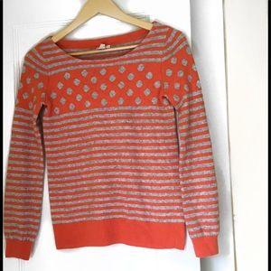 J. Crew Striped and Polka Dot Wool Sweater