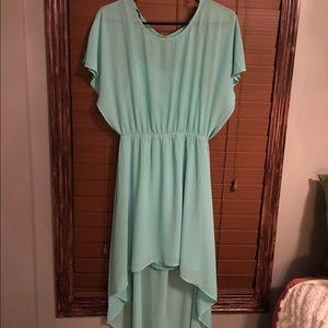 NEW mint/teal dress 👗 Sewn-in slip underneath