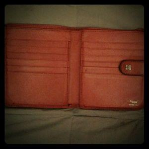 Bosca Handbags - Bosca Red vintage leather wallet