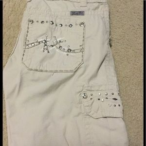Miss Me Pants - Khaki miss me capris size 26