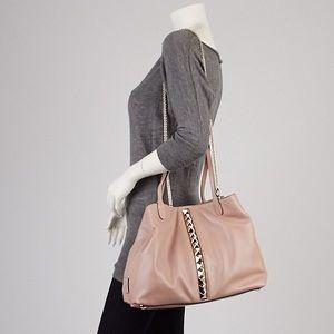 Valentino Garavani Handbags - VALENTINO GARAVANI Rose Gold Rockstud Poudre Tote