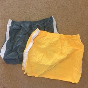 BNWT athletic swim skirts (2) grey & yellow