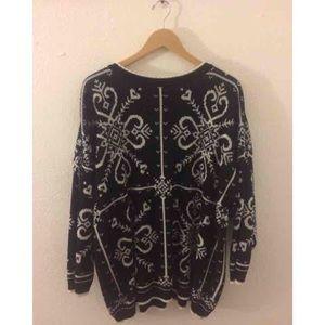 Vintage Oversized Swirl Sweater