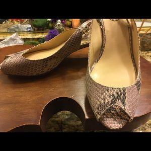 COLE HAAN - snake pattern open toe