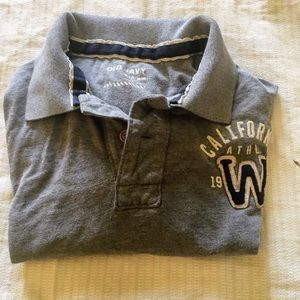 old navy  Other - 😎men's preowned old navy grey polo top