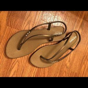 Old Navy Shoes - Old Navy bronze sandals Sz. 9