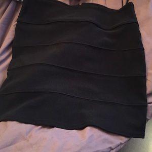 Dresses & Skirts - Black Mini Skirt w/ gold exposed Zipper