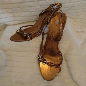 Two Lips Shoes - (4 for $16) Bronze Heels.