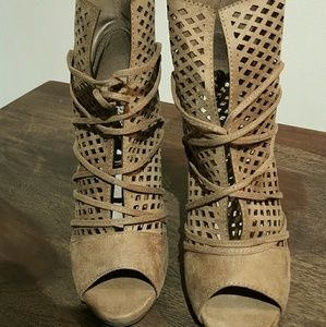 Net booties taupe