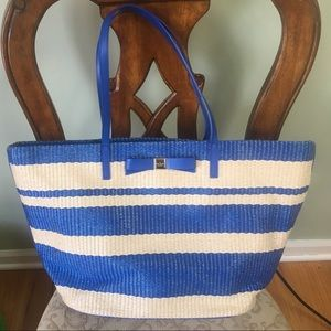 Kate Spade Wicklow Court large straw tote