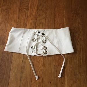 White Zara corset belt